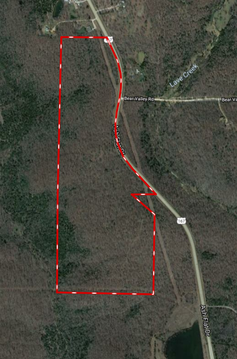 80 ACRES OF TIMBER GROUND WITH HIGHWAY FRONTAGE