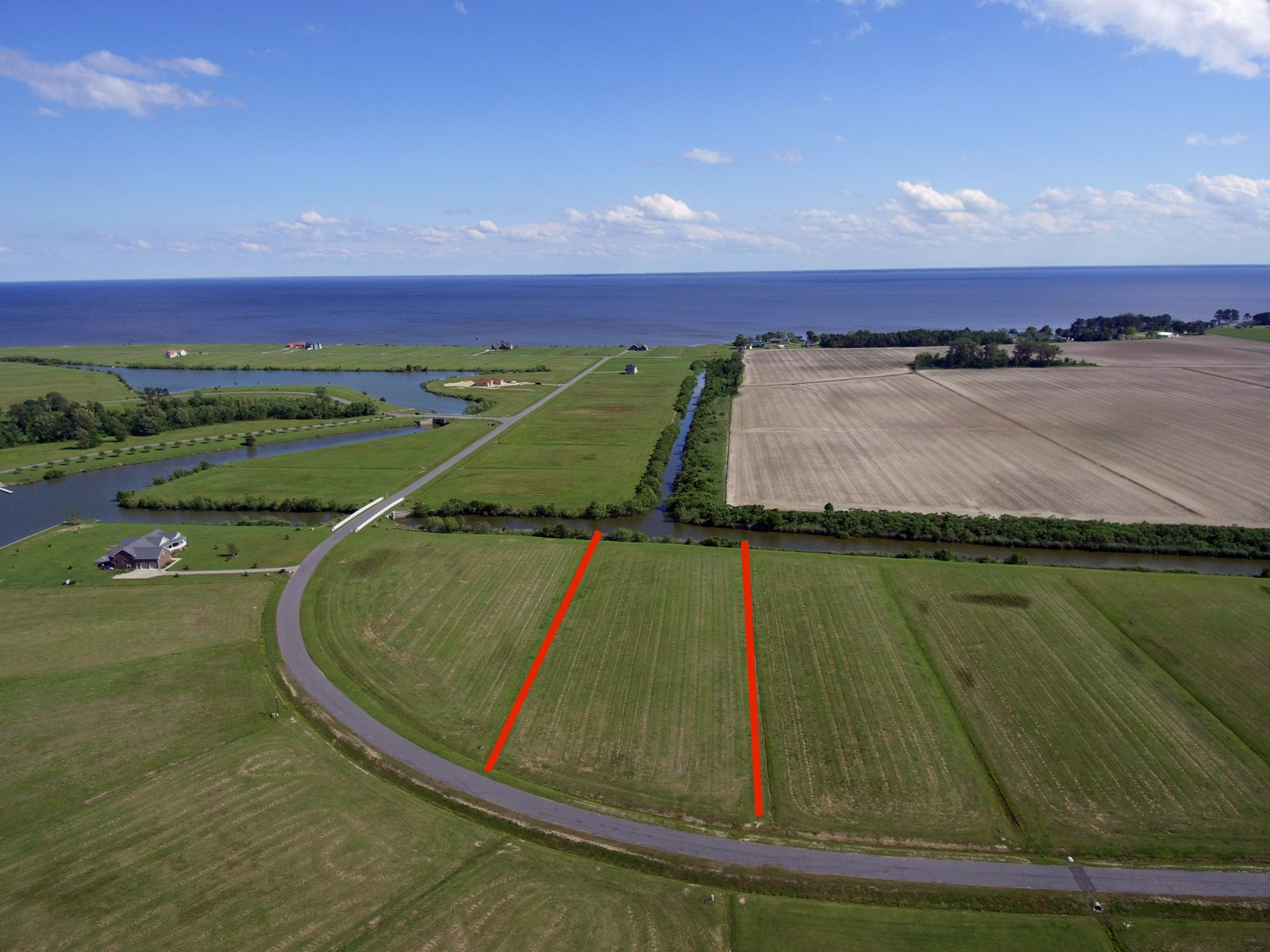 Canal Front Lot in Water Access Community in Perquimans
