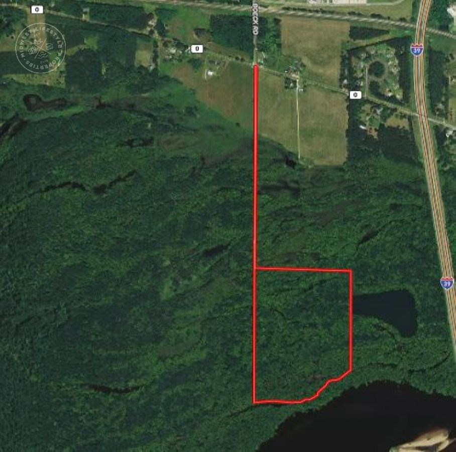 47 Acres of Wisconsin River Bottoms Columbia County