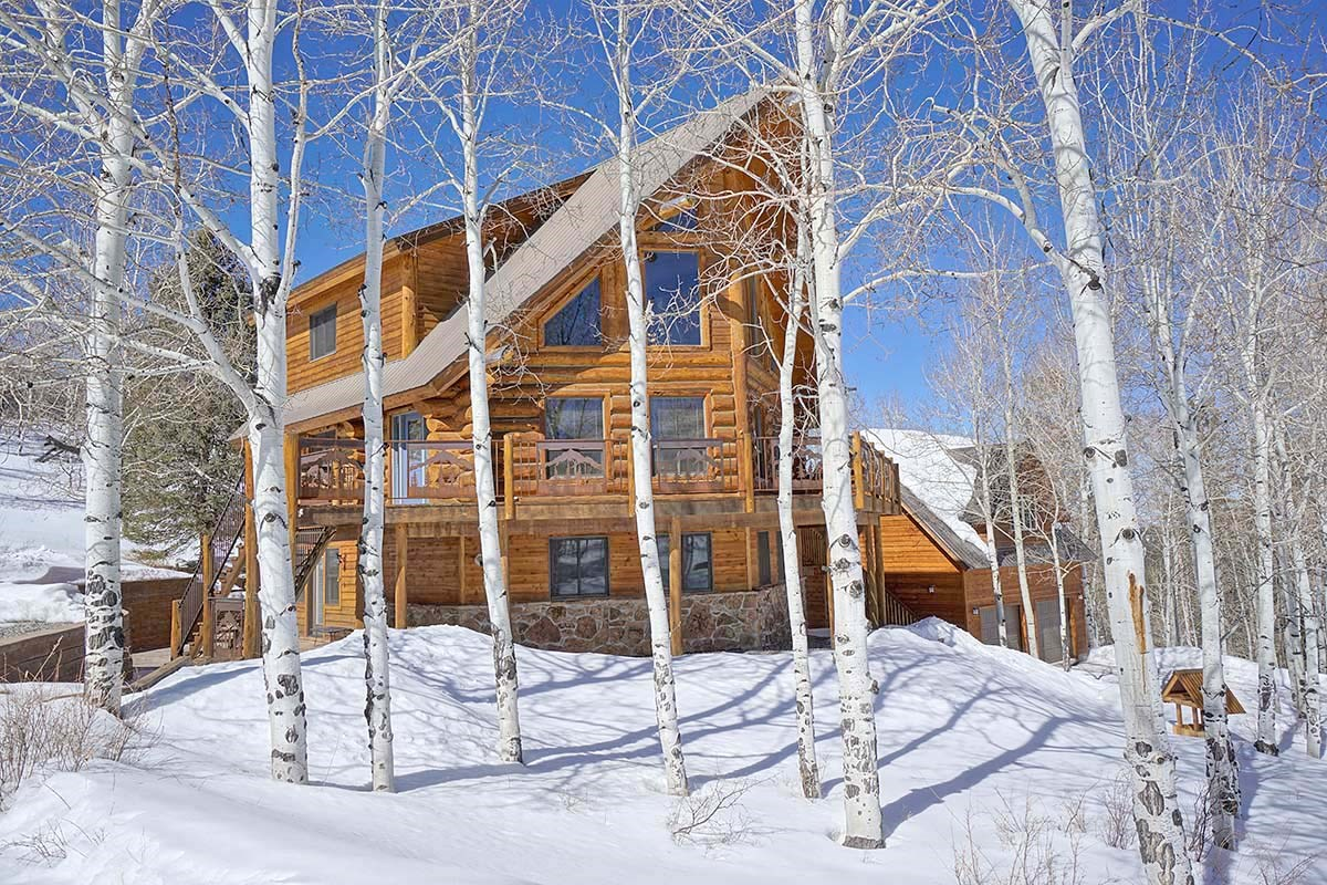 Ridgway Colorado Mountain Log Home for Sale