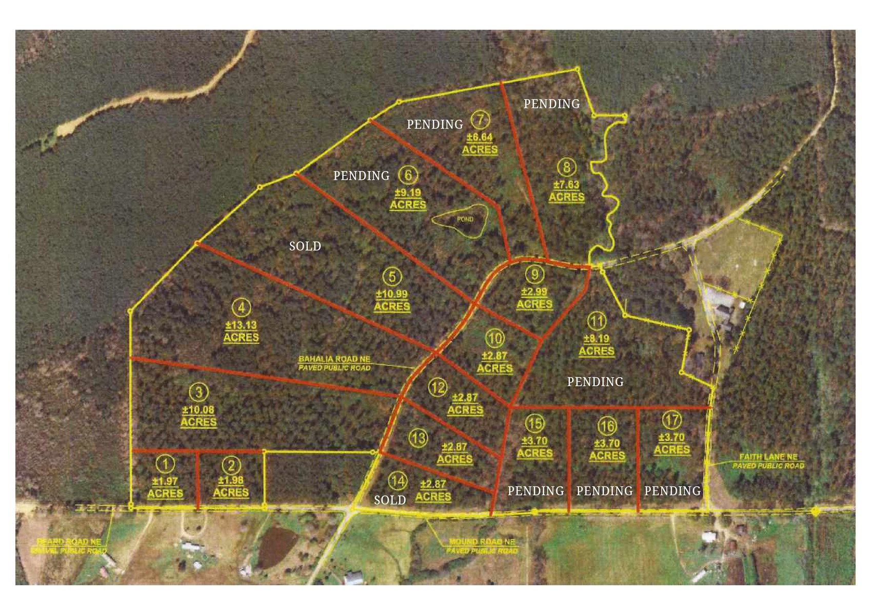 Land for Sale in the Country for Mobile Homes, Brookhaven MS