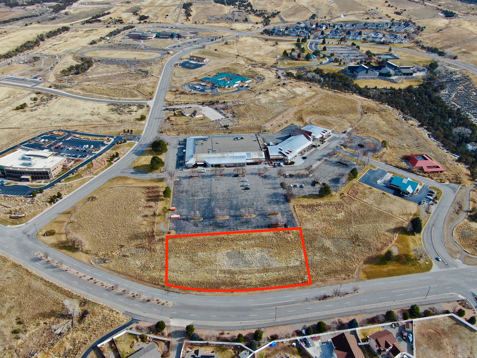 Prime commercial building lot in Battlement Mesa Town Center