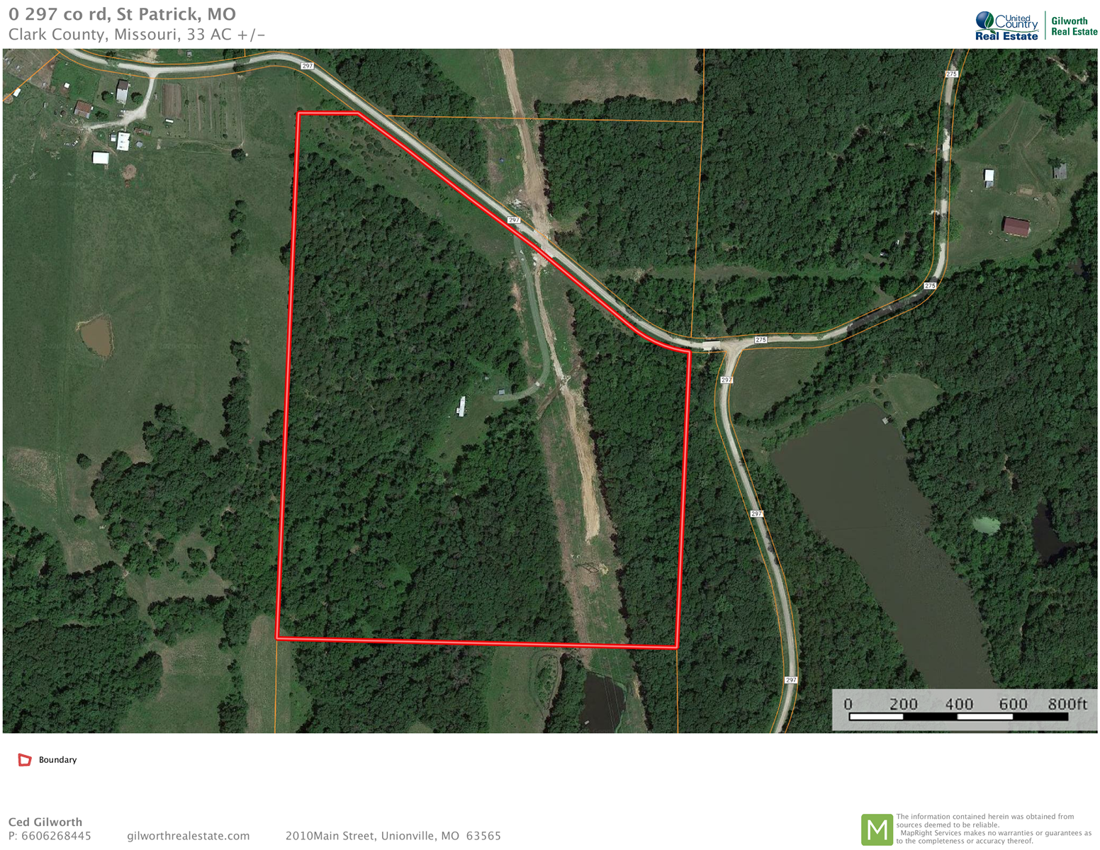 33 Acres m/l of Hunting Ground in Clark Co, MO.