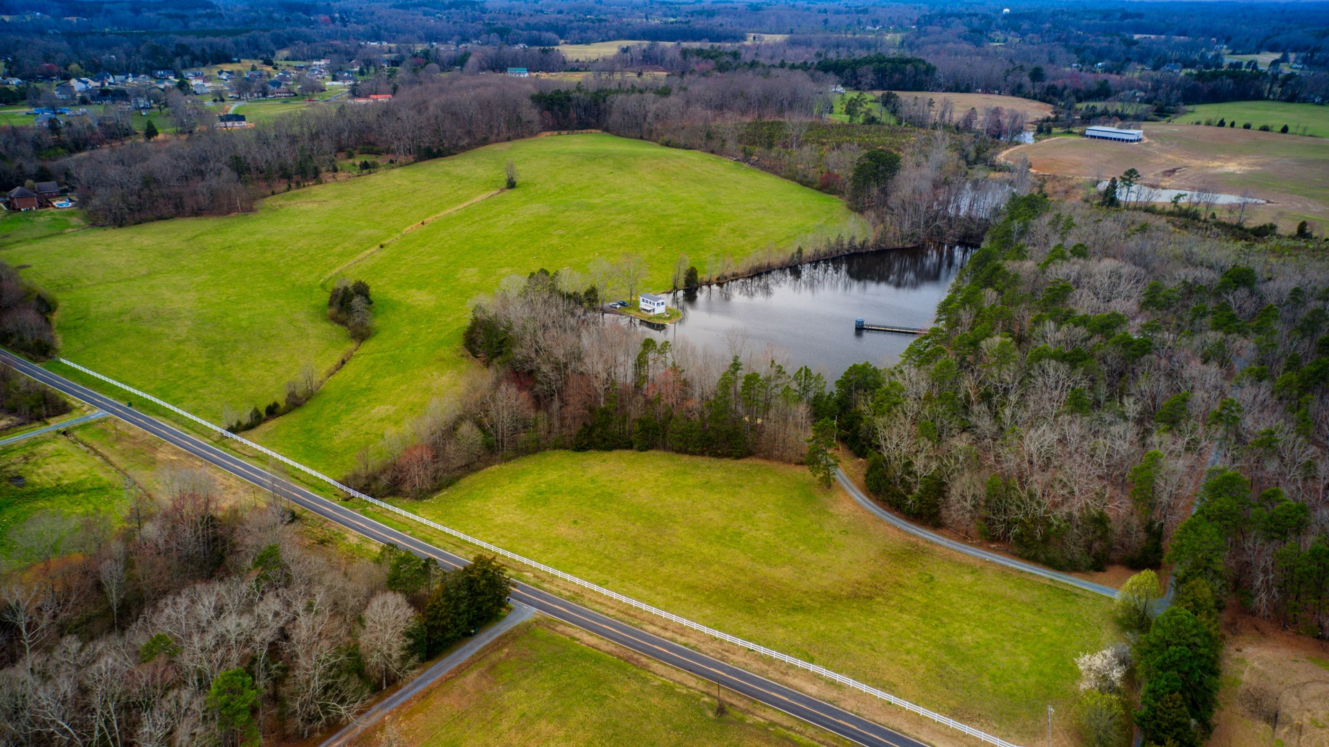 Beautiful Acreage with Lake in Stanly County