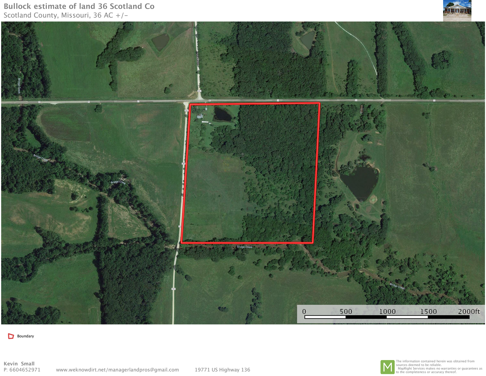 36 +/- Acres Combo Hunting Farm