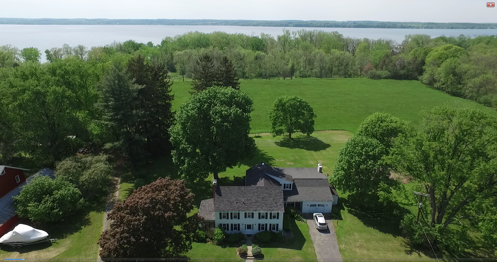 Country Home For Sale with Lakefront, New York State