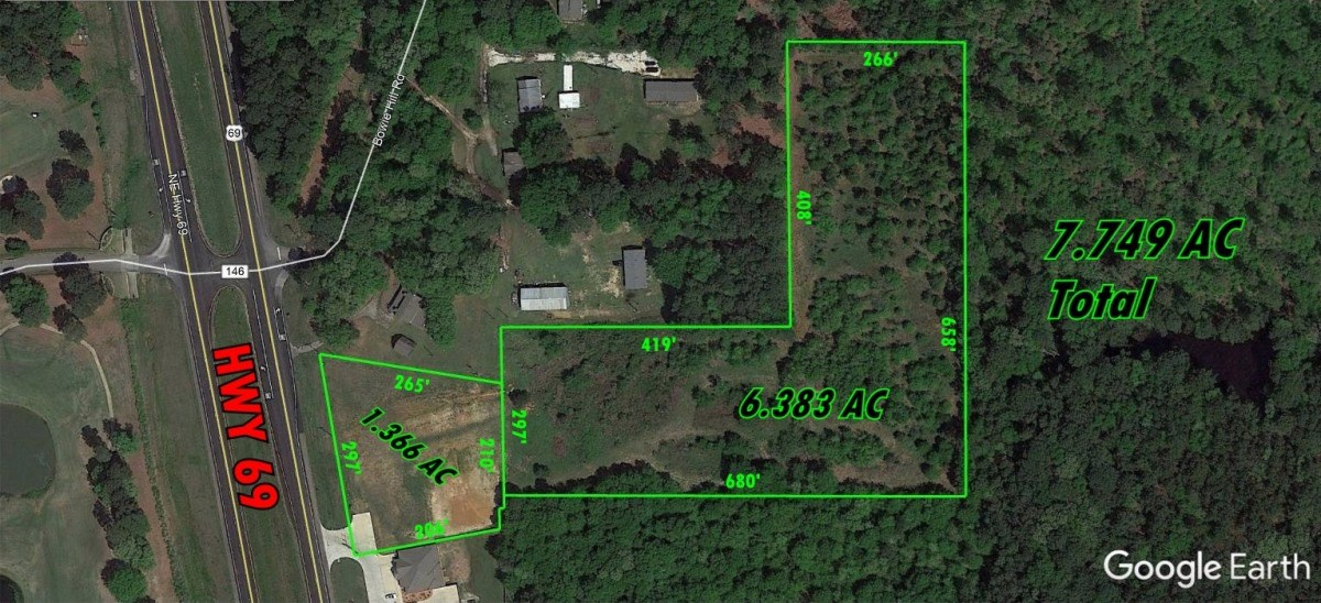 7.49 ACRES COMMERCIAL LAND FOR SALE HWY 69 S TYLER