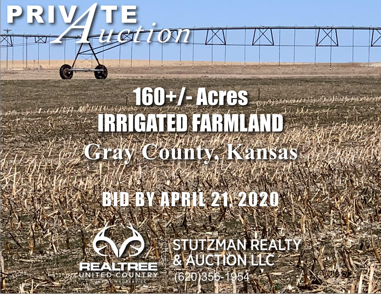 GRAY COUNTY KANSAS 160+/- ACRES IRRIGATED FARMLAND