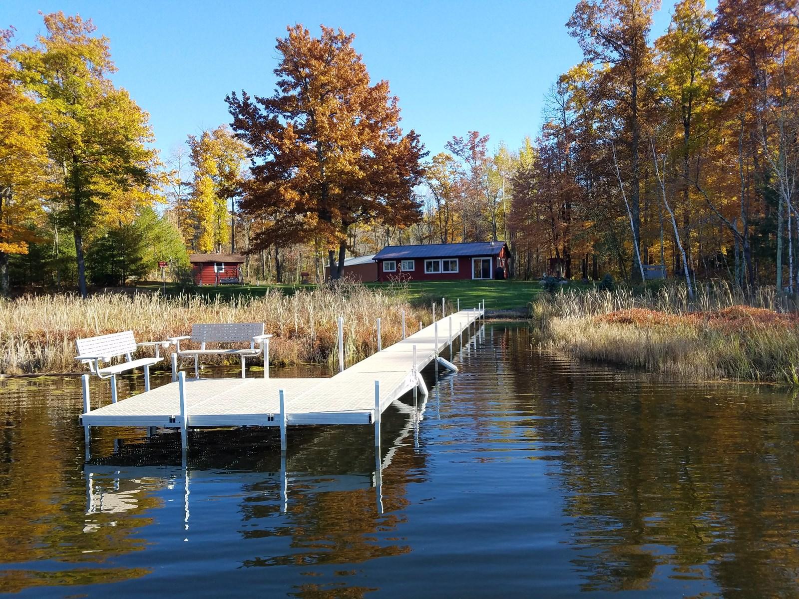 Year-Round Lake Front Cabin, Acreage on Little Tamarack Lake