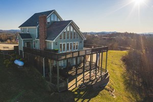 COUNTRY HOME FOR SALE IN HILLSVILLE VA WITH PICTURESQUE VIEW