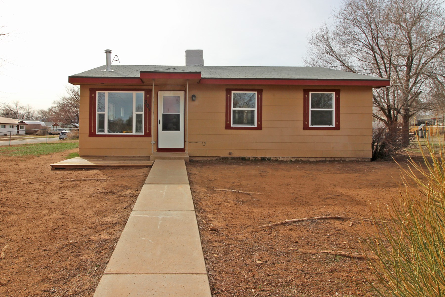 Cortez, CO home for sale with large corner lot.