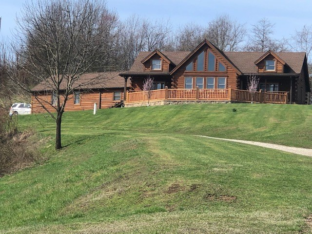 Sardis, Monroe County OH Log Home For Sale