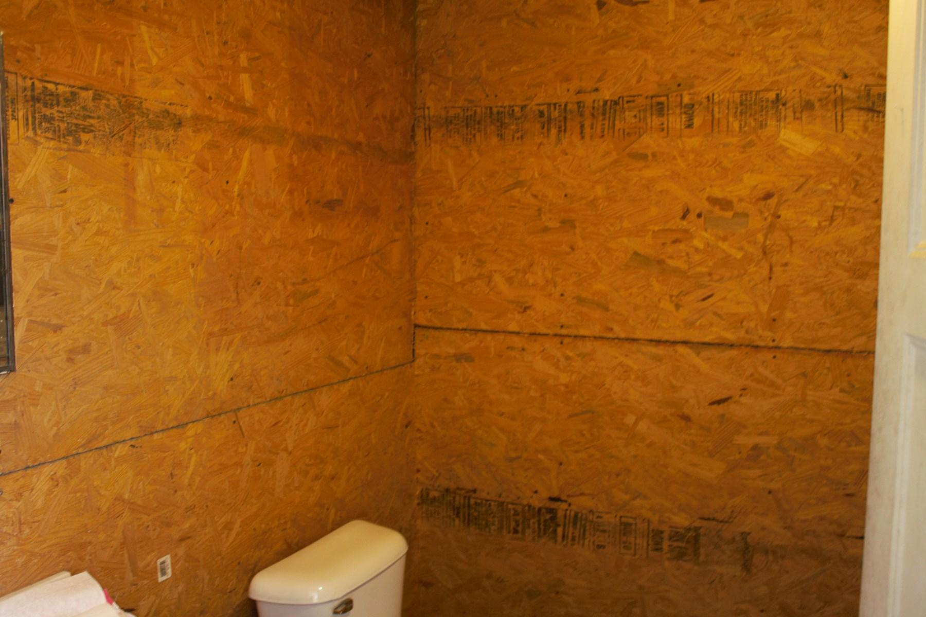 Bathroom in garage