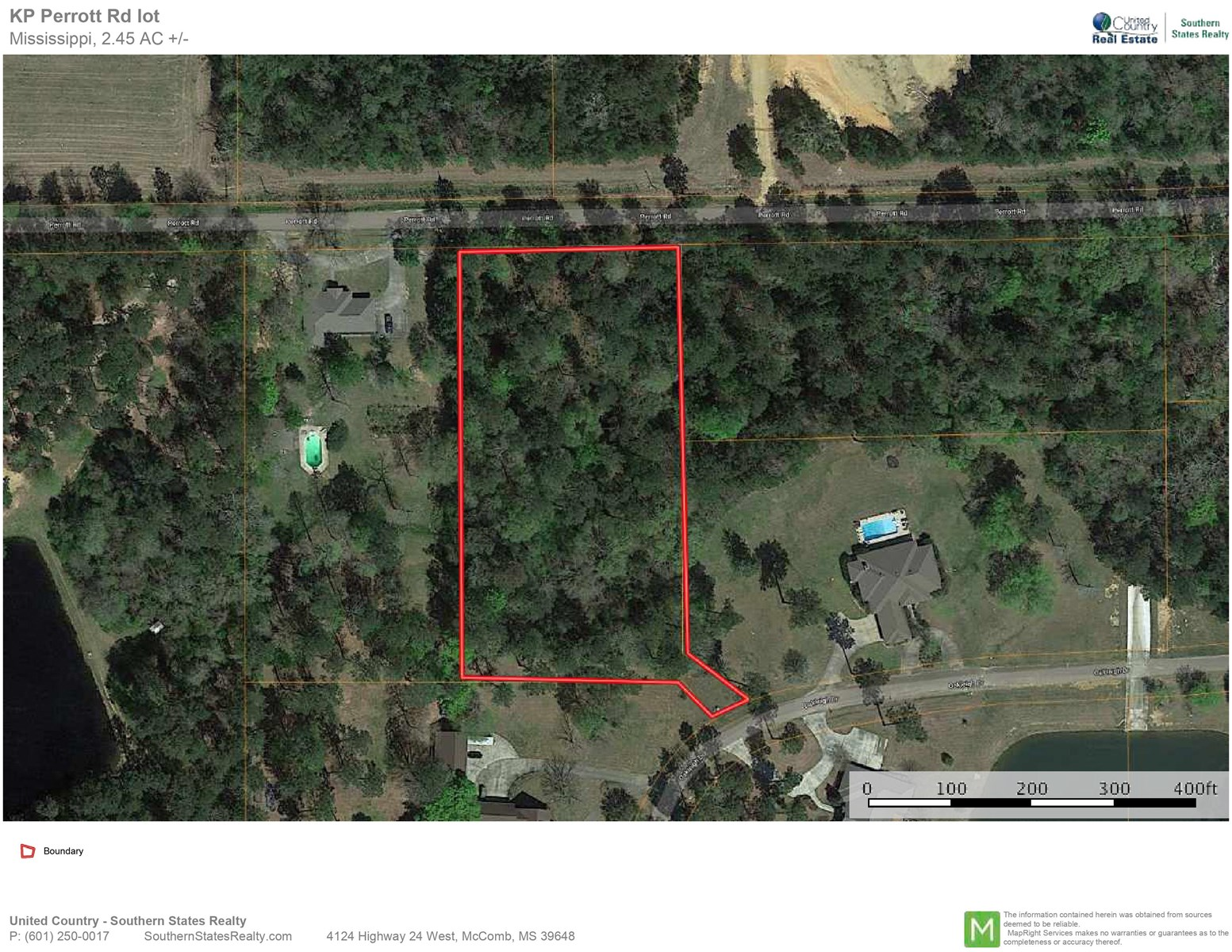 2.45 Acres Land for Sale Homesite, Near Town, McComb,MS