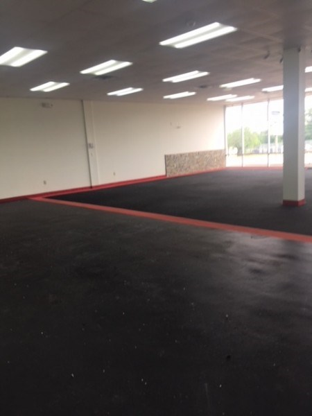 large side rubber floor