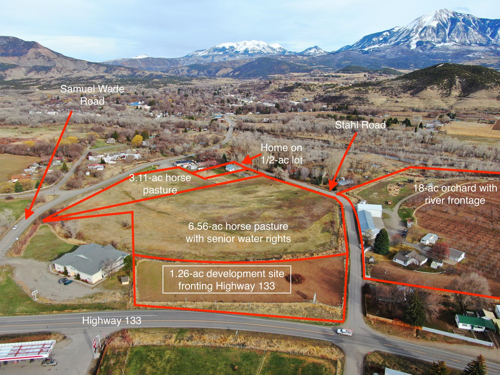 Paonia CO orchard and farm market transitional land for sale