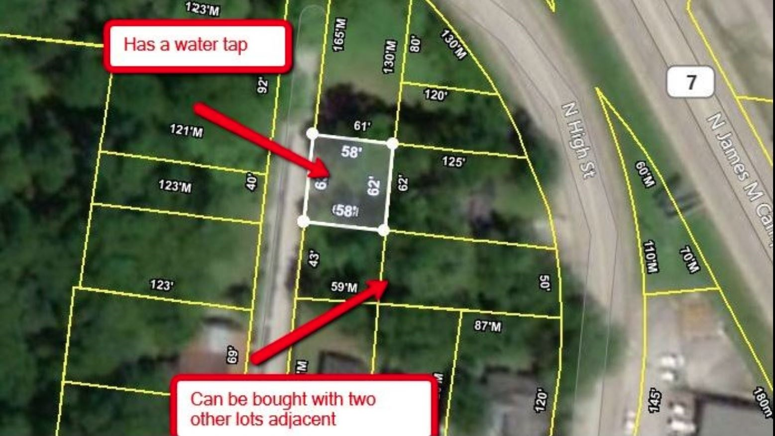 City Lot for Sale in near Downtown Columbia, Tennessee