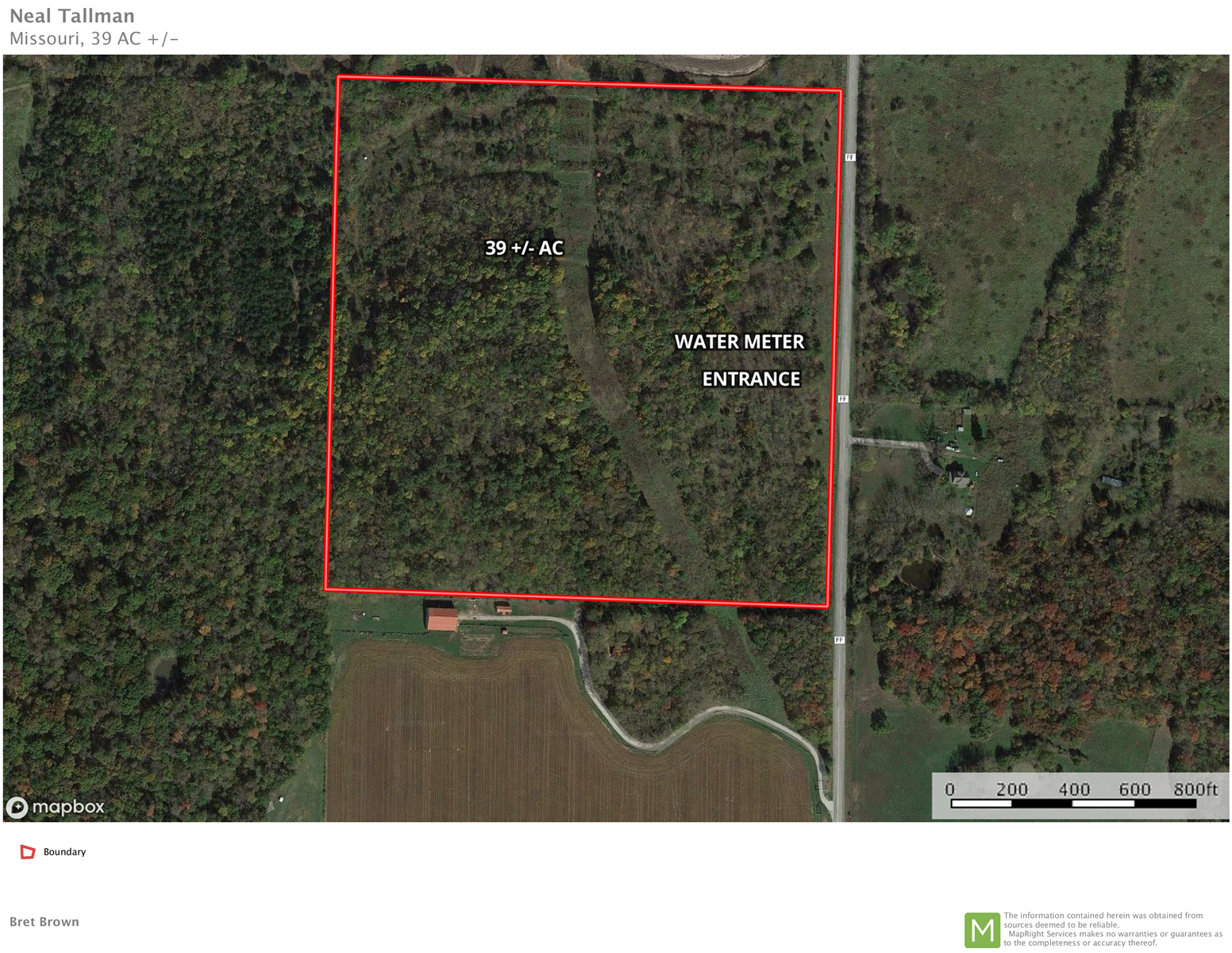 Land for Sale, 39+/- acres in Adrian, MO, Bates County.