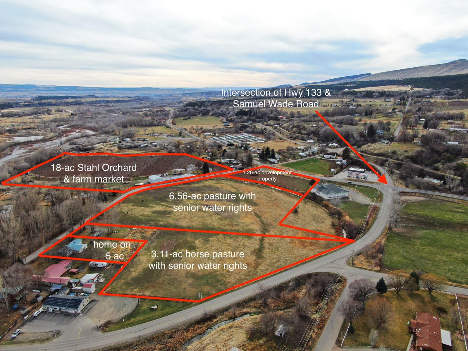 Prime commercial development property in Paonia Colorado