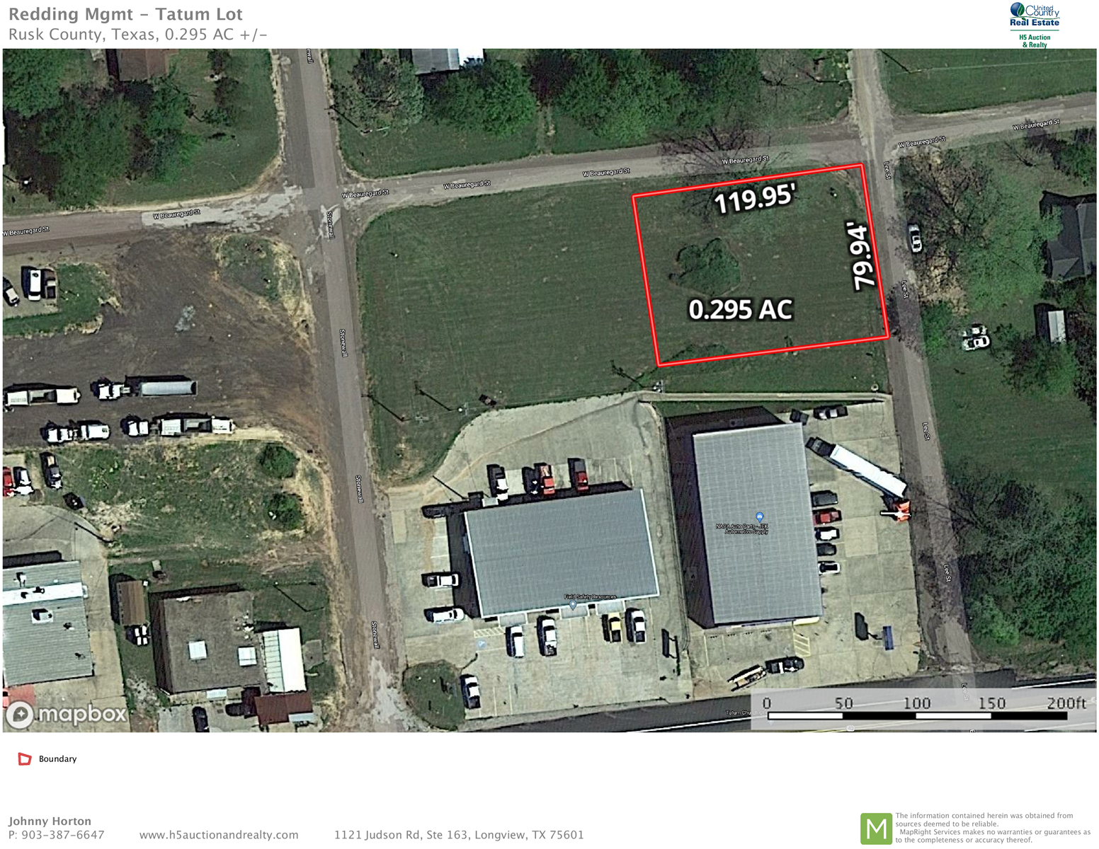 Auction - Buildable lot Tatum East Texas Rusk County