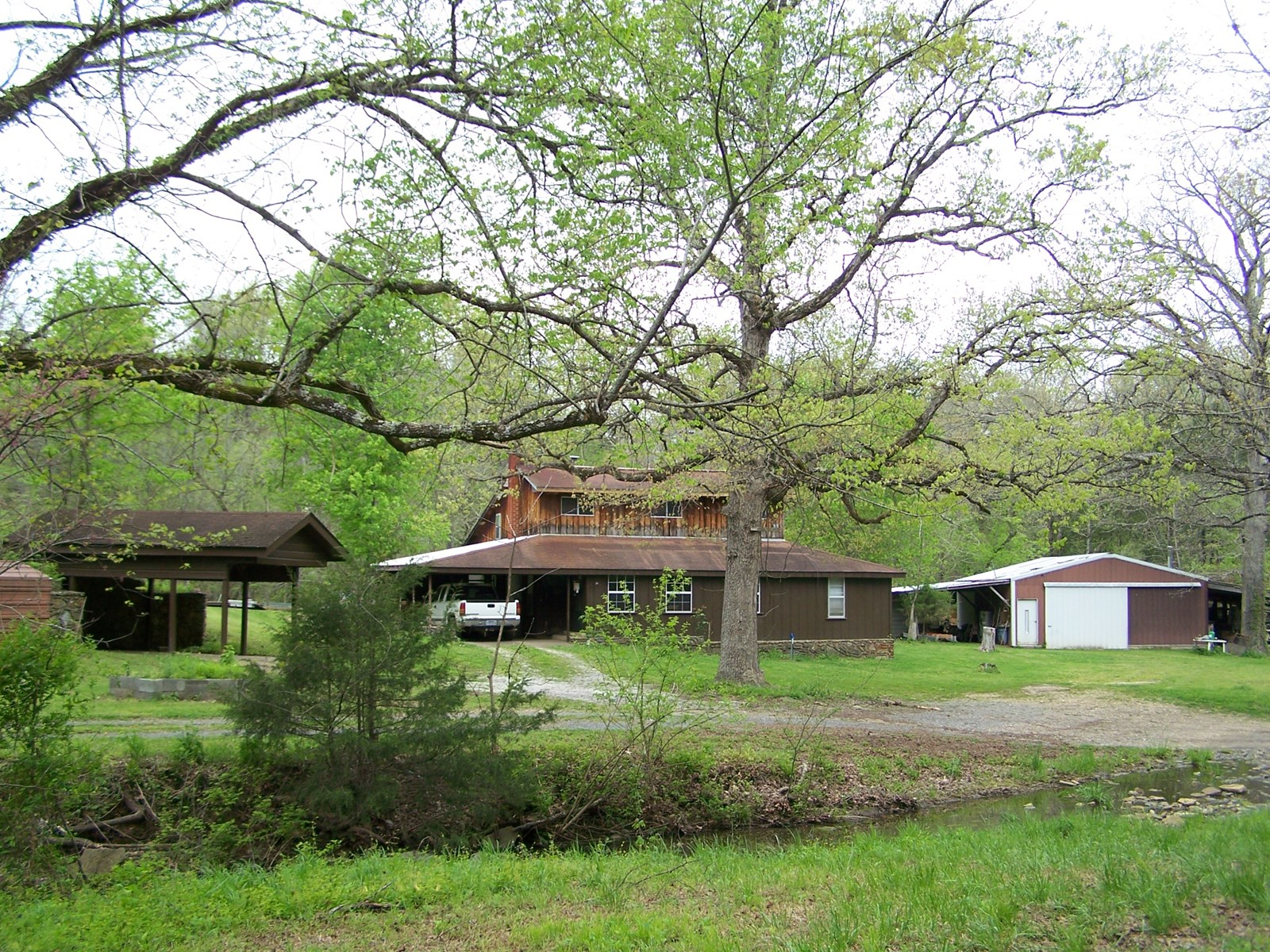 9.5 Acres w/Creeks & Country Home For Sale Arkansas Ozarks
