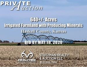 HASKELL COUNTY, KS ~ 640+/- ACRES ~ IRRIGATED FARM ~ AUCTION