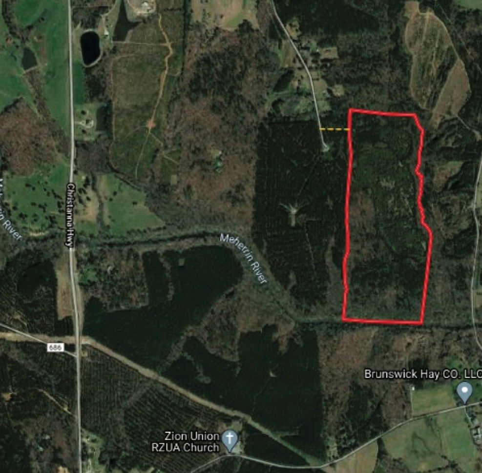 84 Ac. - Hunting, Timber, River Frontage in Brunswick Co.