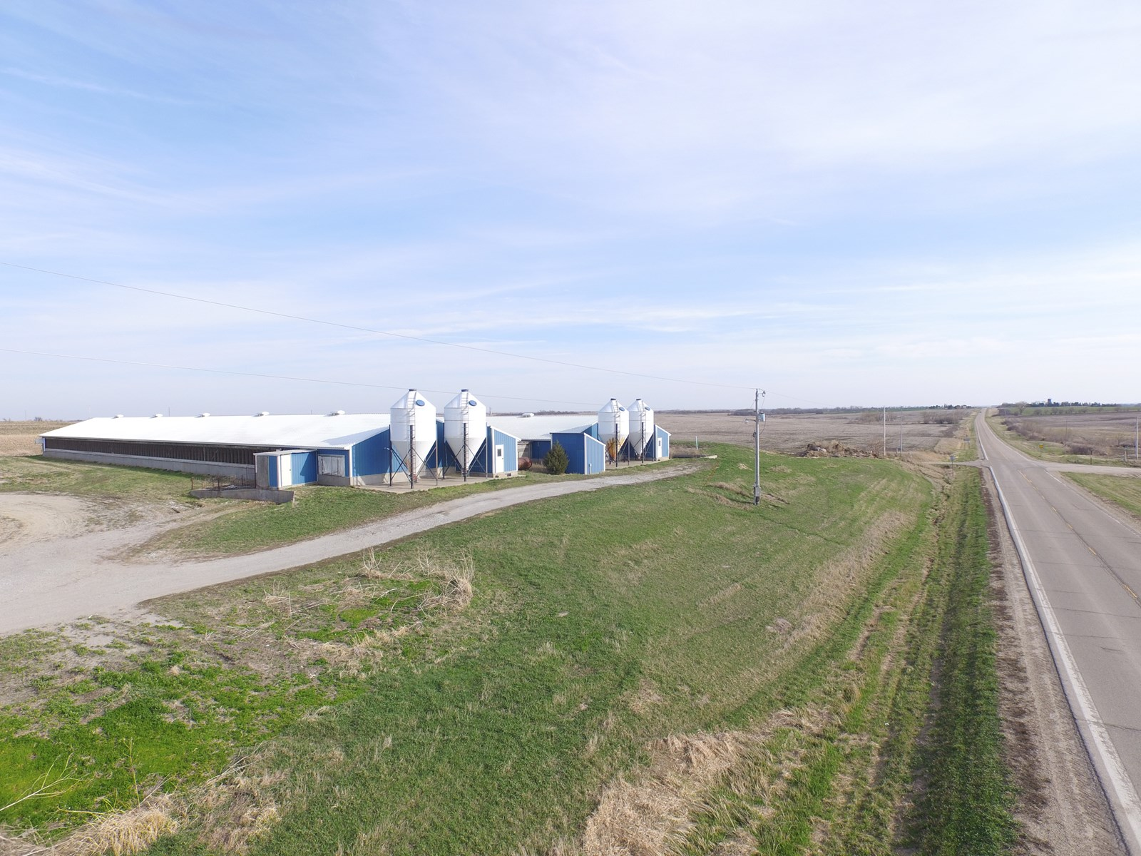 NE Kansas Irrigated Tillable and Hog Confinements For Sale