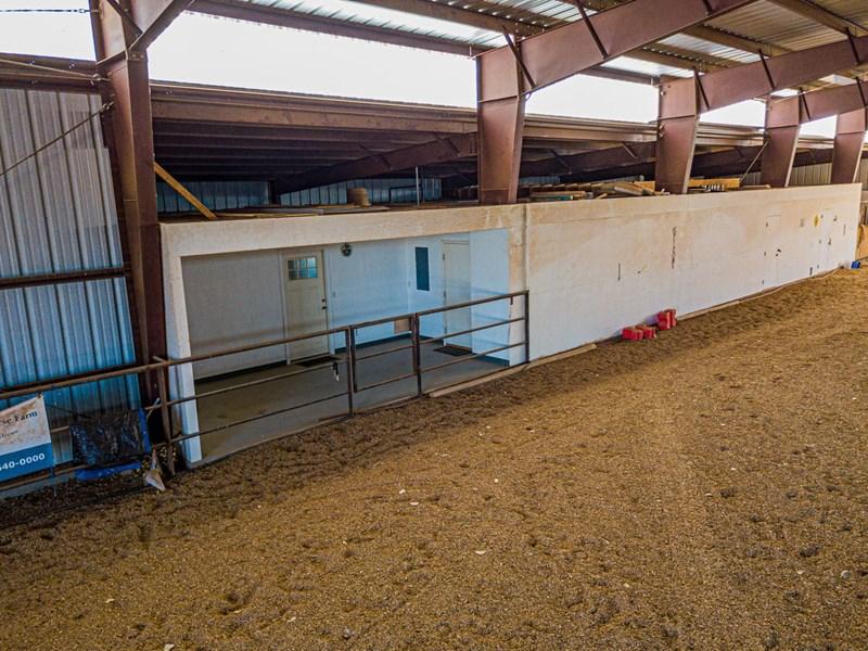 Indoor arena viewing area