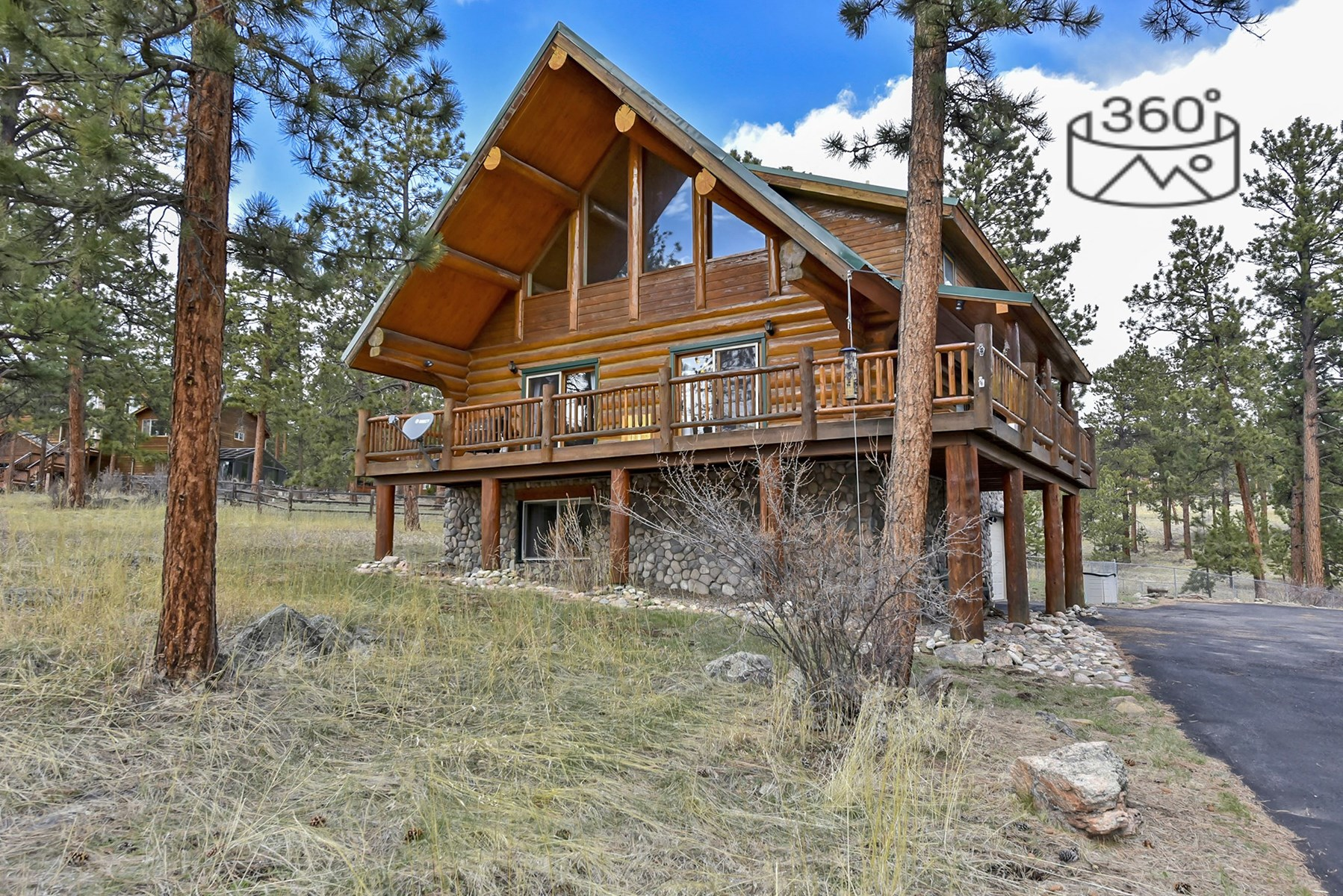 Colorado Mountain Log Home  in  Bailey Colorado