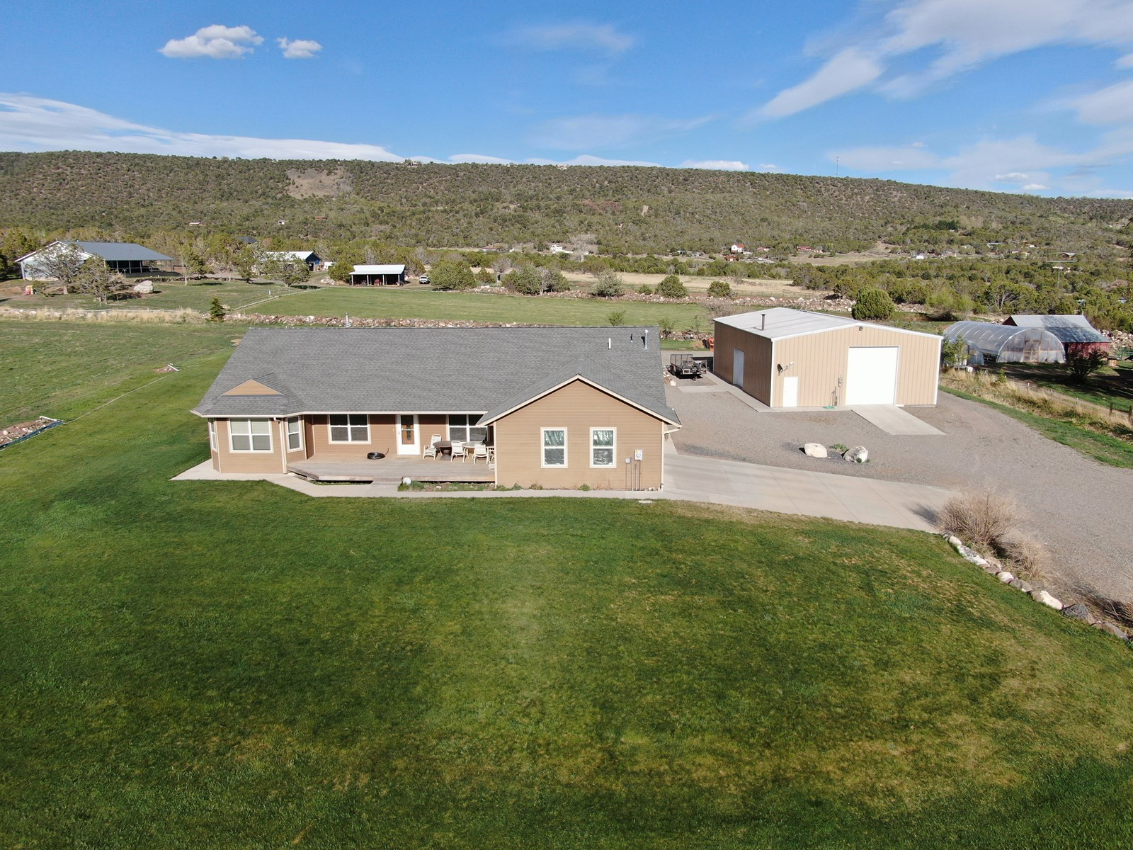 Cedaredge Colorado home for sale on country acreage w shop