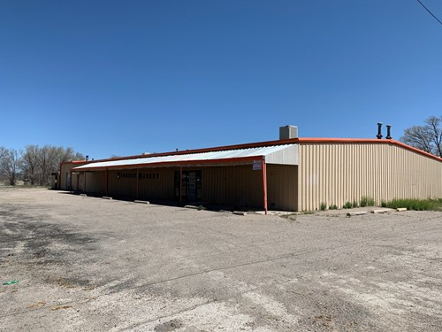 Commercial building & land for sale in downtown Estancia NM