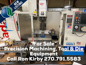 HIGH END-PRECISION MACHINE SHOP, TOOL & DIE COMPANY FOR SALE