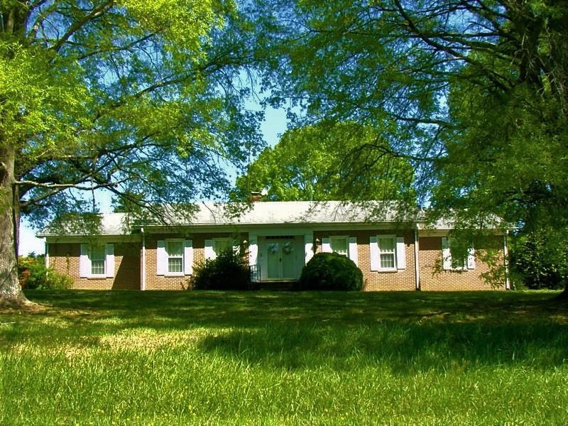Handsome Brick Rancher On 40 Acres In Southern VA