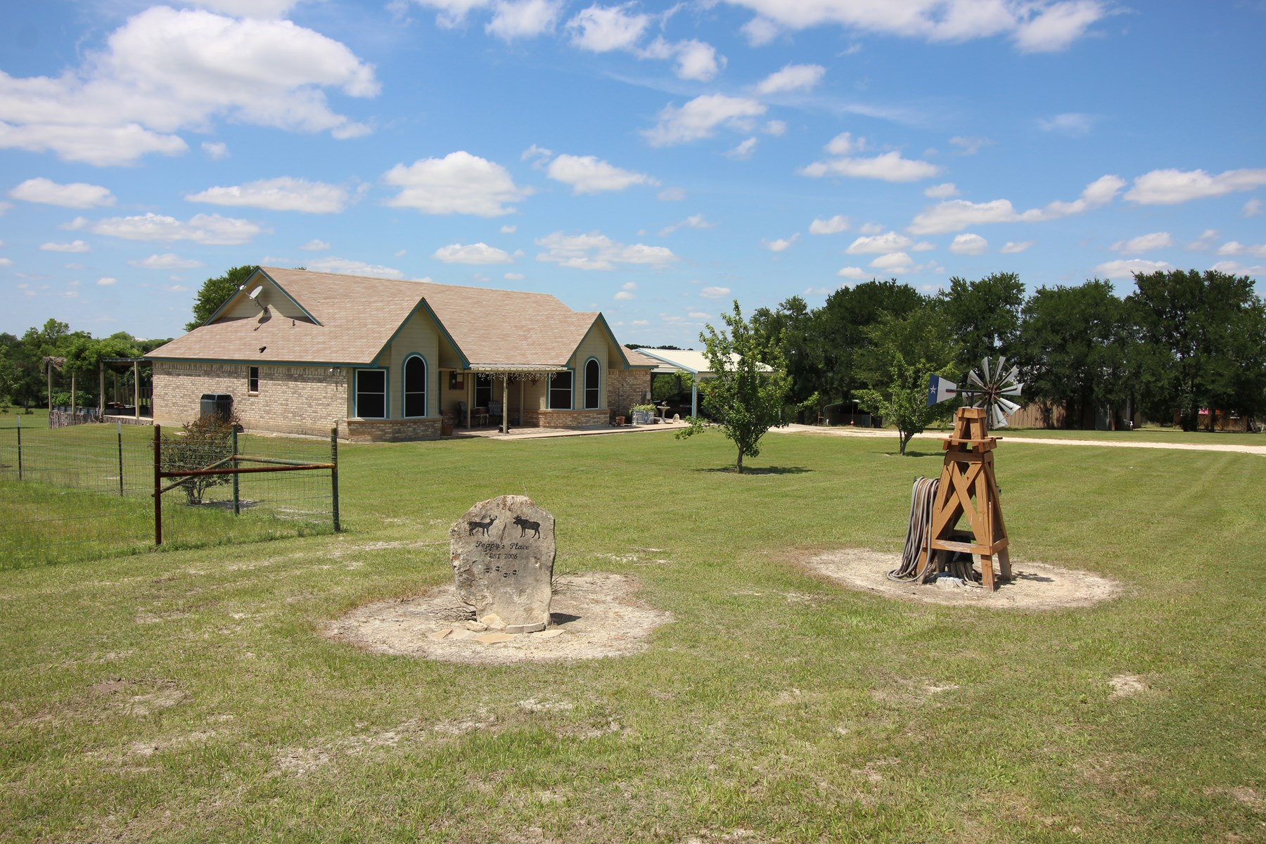 Beautiful Texas Country Home 19.76 Acres Stock Tank Creek