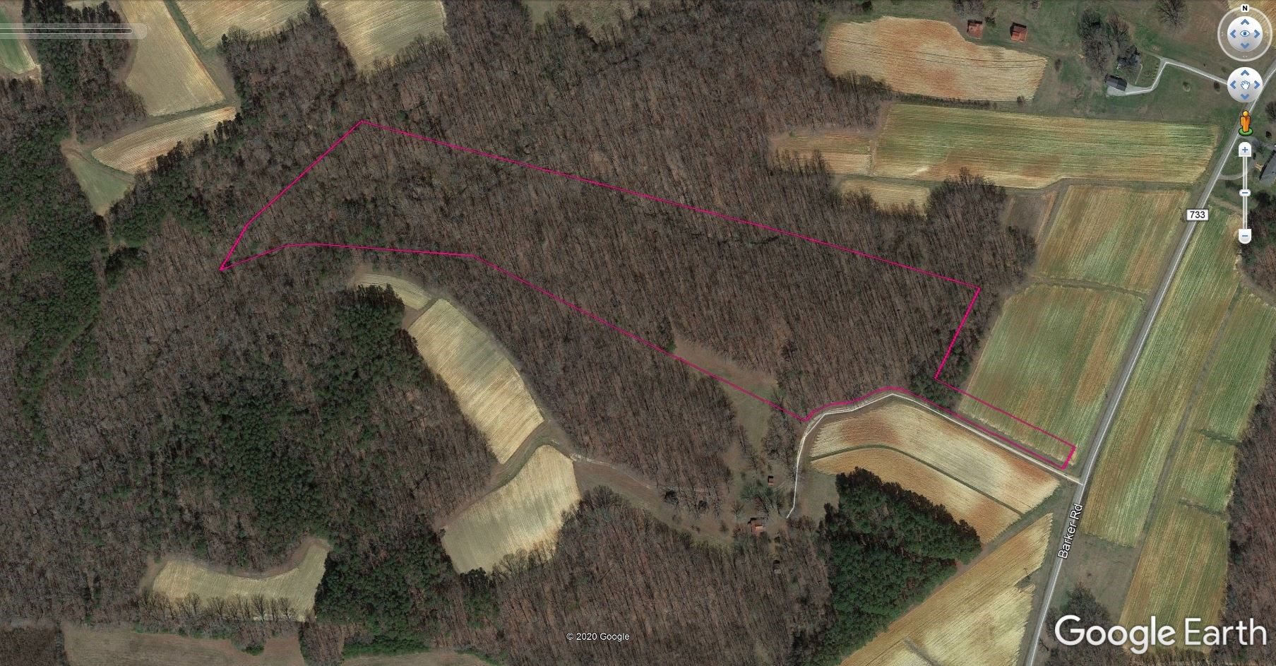 19+/- acres of gently rolling land in Ringgold, VA