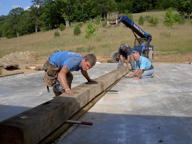 men at work starting to rebuild