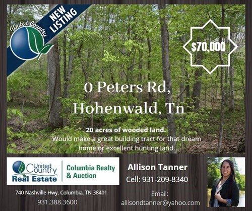 Wooded Acreage for Sale in Hohenwald, Tennessee