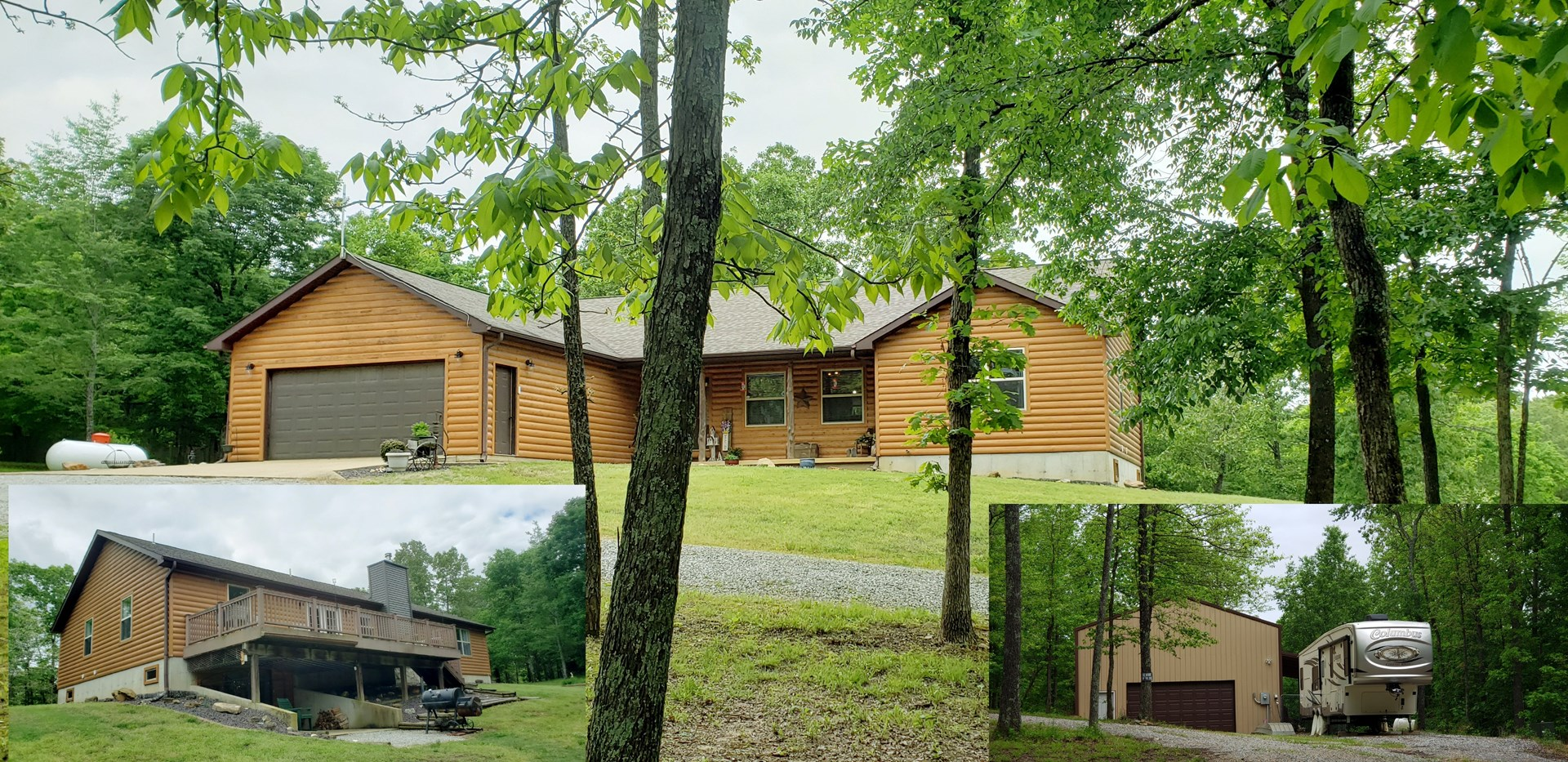 LOG SIDED HOME WITH LARGE SHOP IN MISSOURI FOR SALE