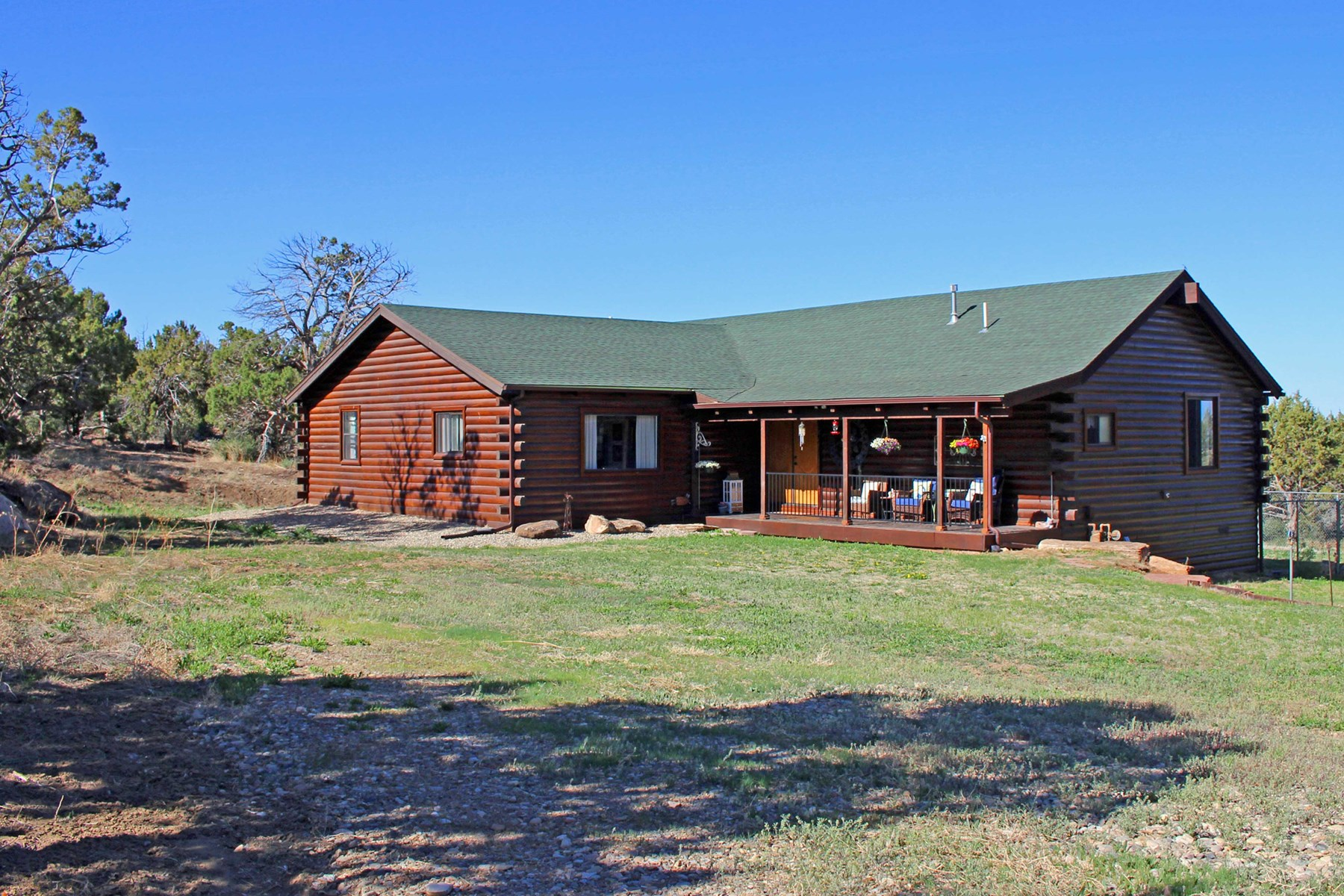 Updated 3 bedroom/3 bath log home on 3 wooded acres in CO