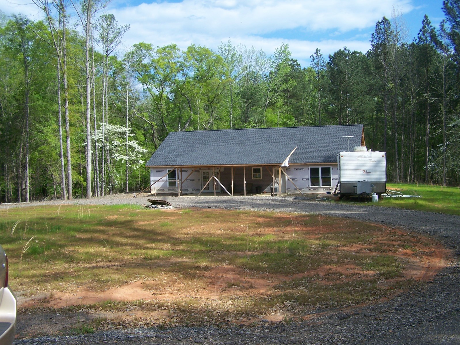 Finish This Creek Front Home on 7 Ac Near Lake Wateree in SC