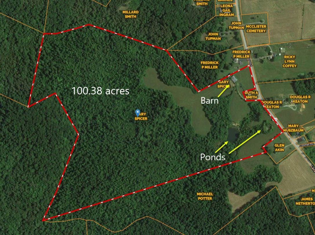 Hunting and Farm Property, Ponds, Creeks, Stock Barn, Woods