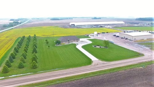 FOR SALE NEBRASKA CATTLE FEEDLOT, TRUCKING HDQ, & BRICK HOME
