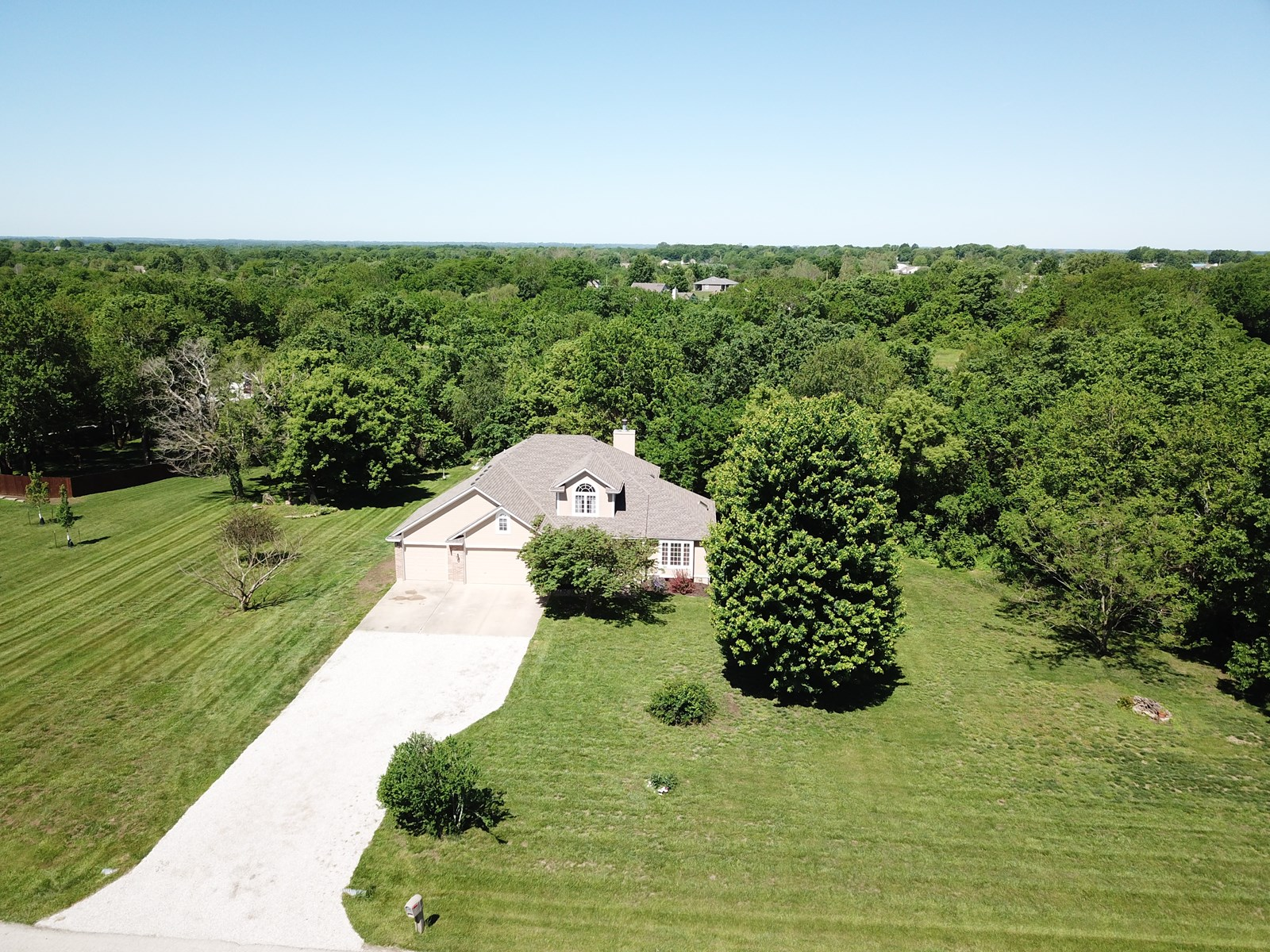 Home for Sale in Peculiar, MO on 3 acres in Cass County