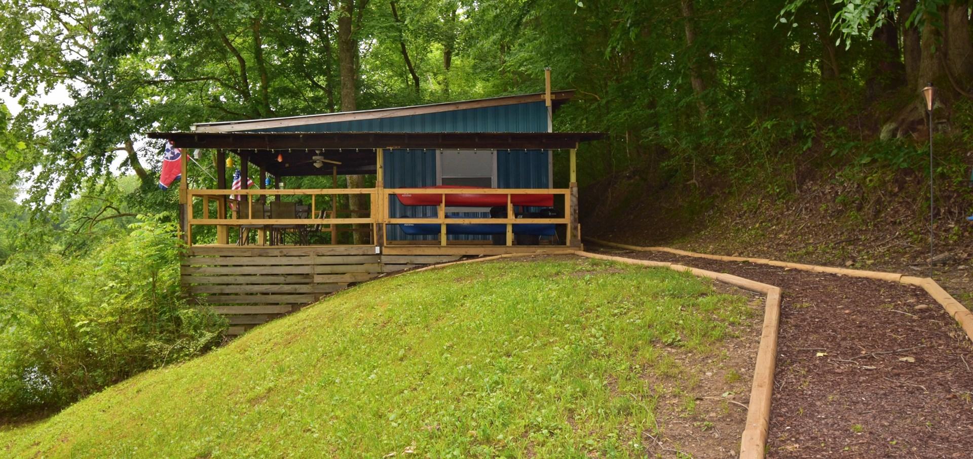 Buffalo River Front Cabin  Lobelville, TN    $79,000