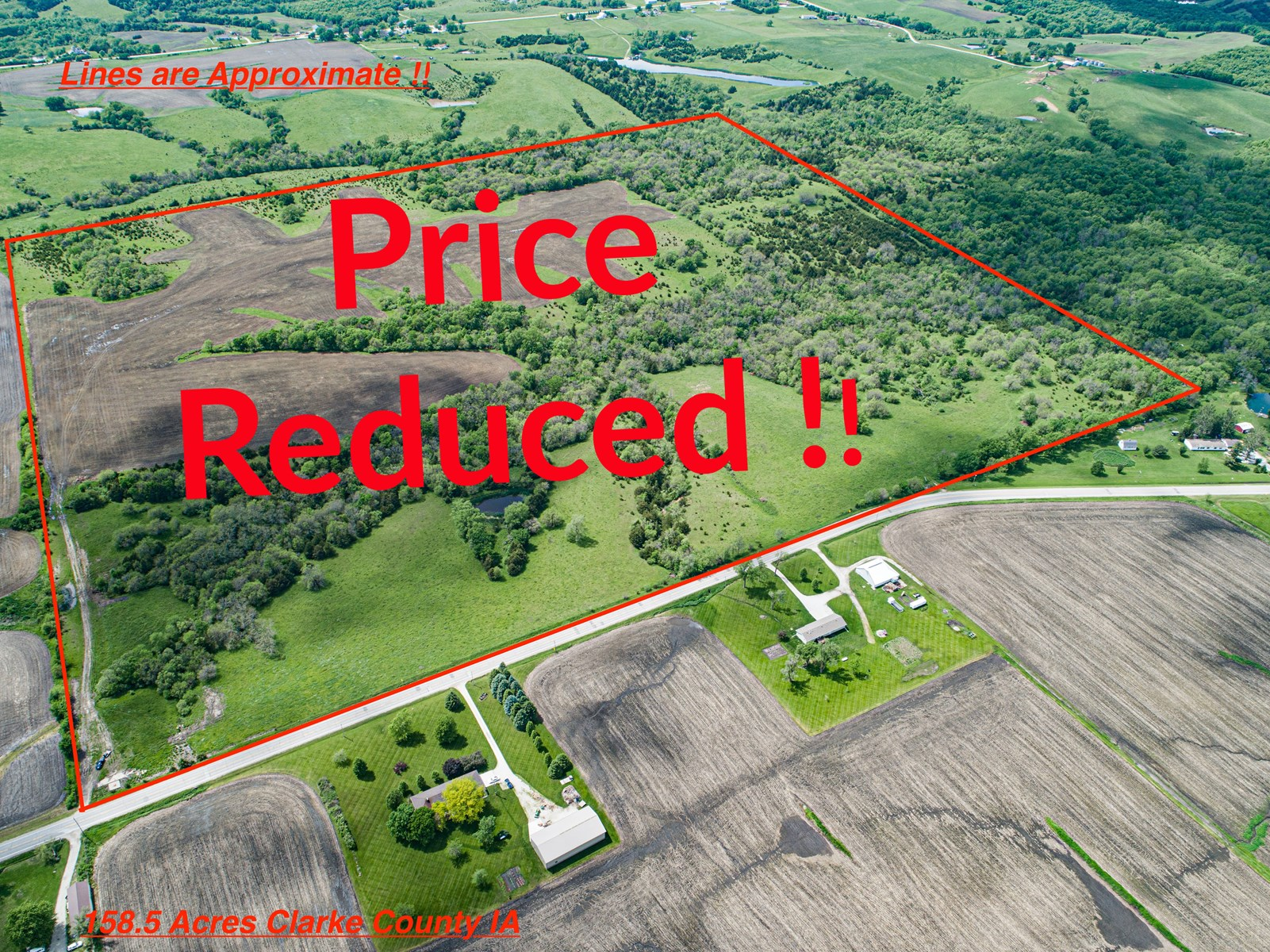 158.5 Acre Clarke County IA Income-Producing Hunting Farm