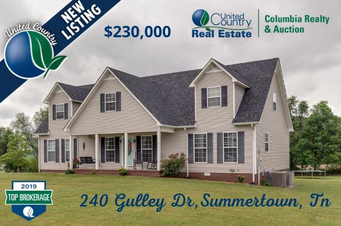 2-Story Home on Cul-De-Sac Lot, for Sale in Summertown, Tenn