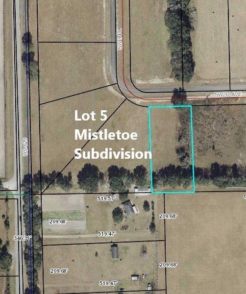 VACANT LOT FOR SALE- MISTLETOE S/D- TRENTON, FLORIDA