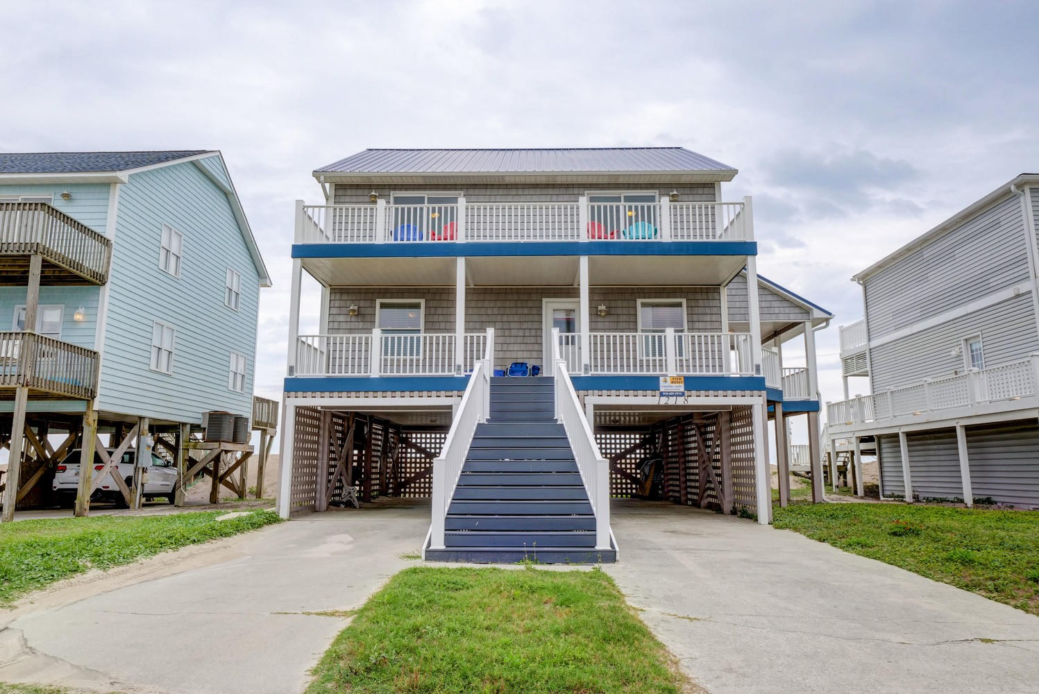 5 BR Oceanfront House for Sale on North Topsail Beach