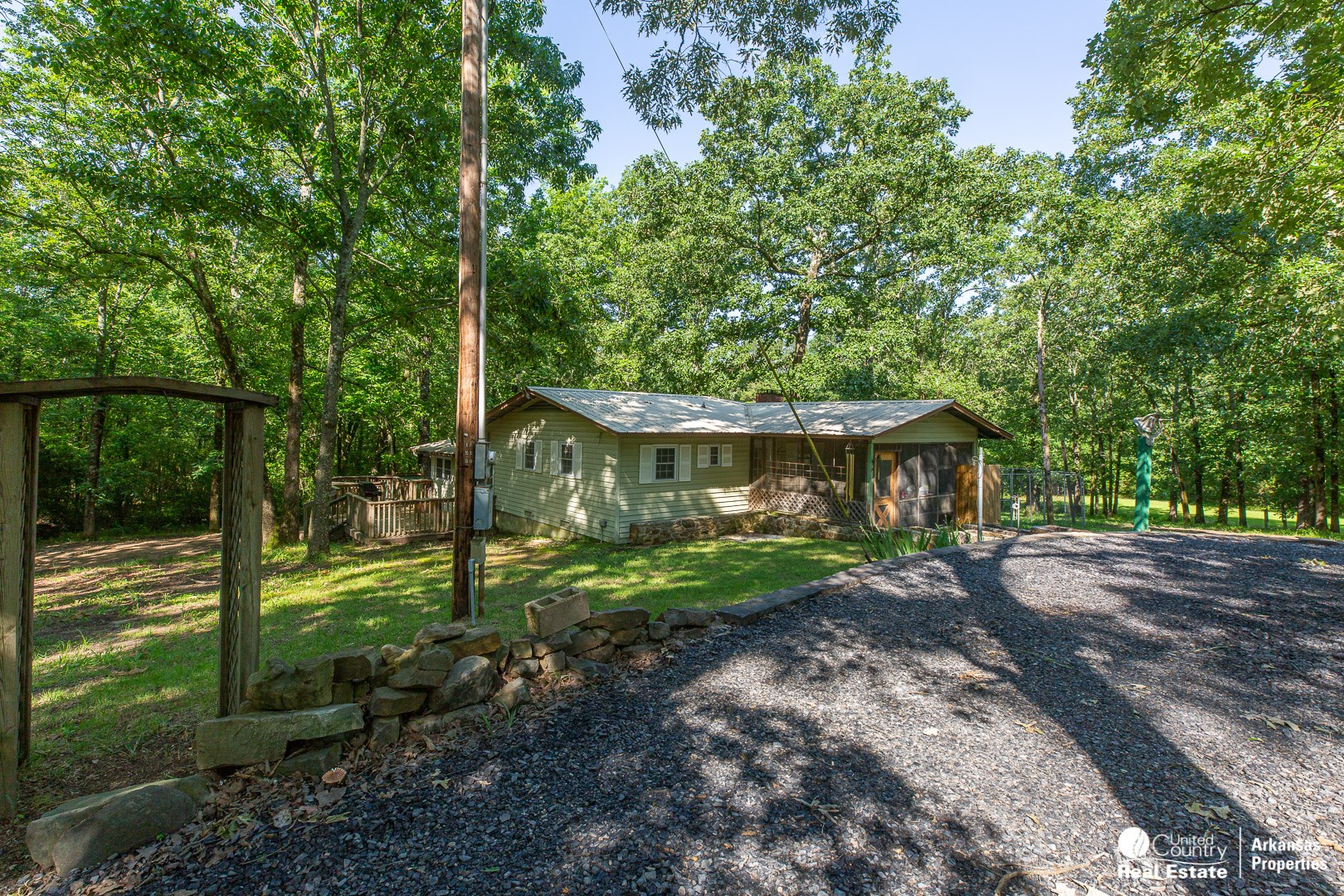 Country home with land for sale in Arkansas.